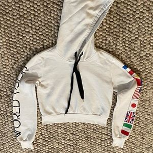 White World Flags Sweatshirt Forever 21 - Small